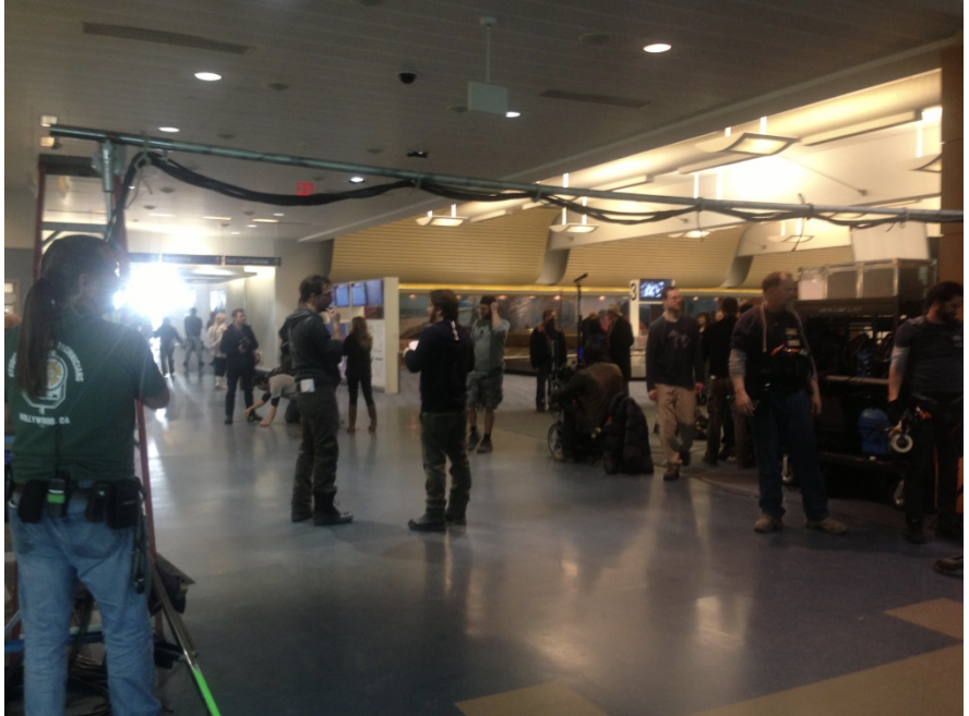 """Lights, Camera, Action! Gerald R. Ford International Airport Serves as Location for Filming of """"The End of the Tour."""""""