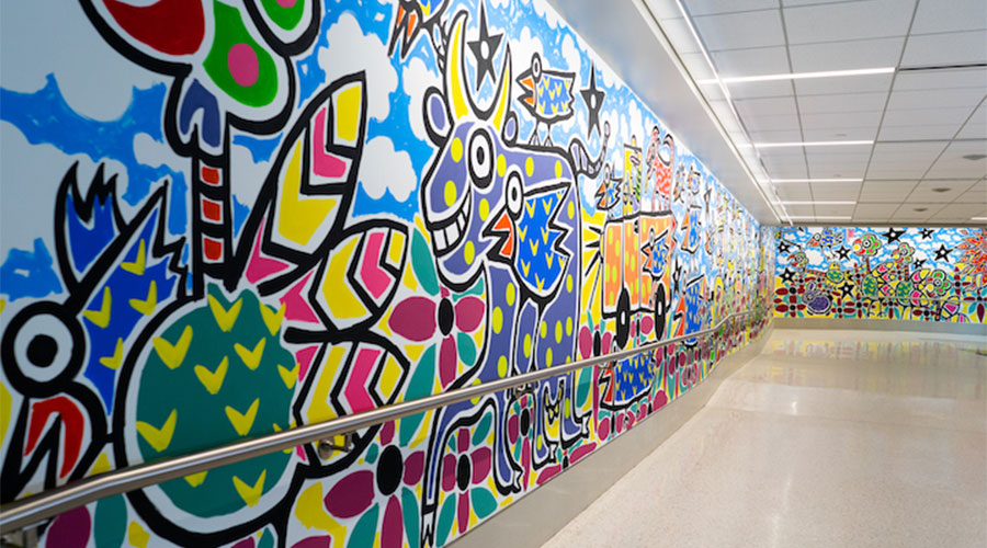 Ford Airport Unveils New Mural by Reb Roberts Second in Series of Public Art Installations Supported by Frey Foundation