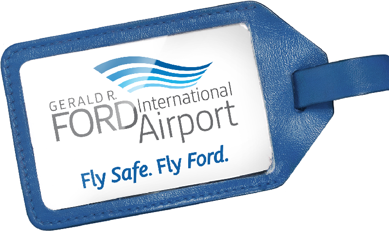 Gerald R. Ford International Airport. Fly Safe. Fly Ford